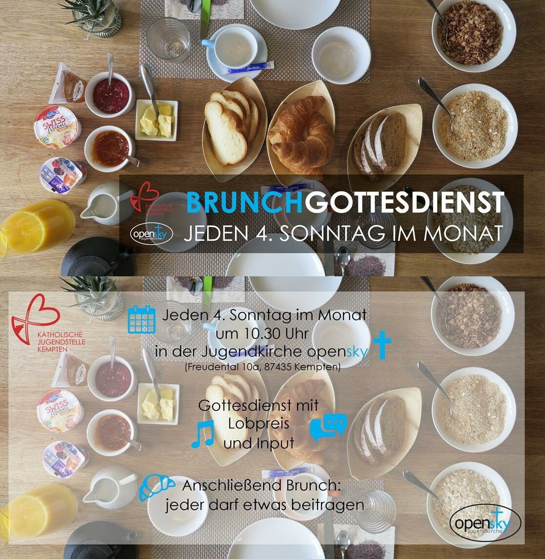 Brunchgottesdienst in Kempten  (Sonntag, 25. April 2021)